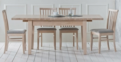 TCH Windsor Oak 2 Leaf Extending Dining Table
