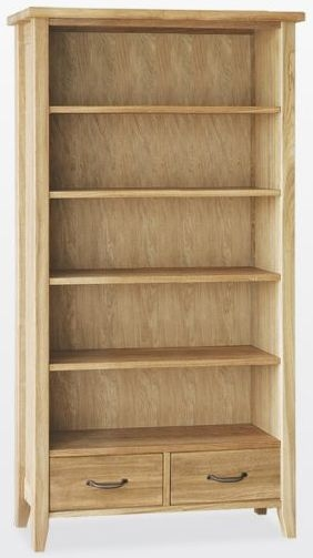 TCH Windsor Oak Tall Wide Bookcase