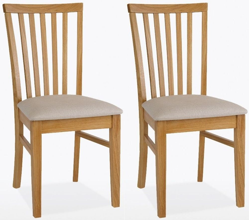 TCH Windsor Oak Olivia Leather Seat Dining Chair (Pair)