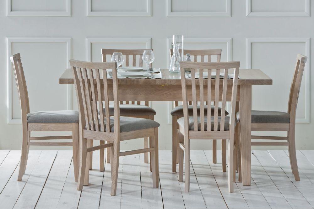 TCH Windsor Oak 1 Leaf Extending Dining Table
