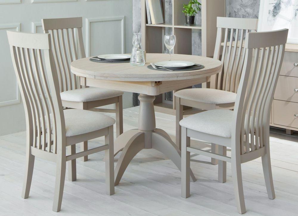 TCH Windsor Oak Single Pedestal Extending Dining Table