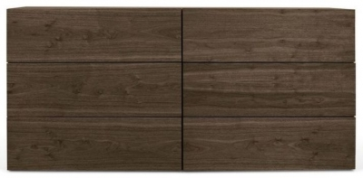 Temahome Aurora Walnut 6 Drawer Chest