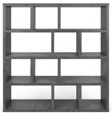 Temahome Berlin Concrete Melamine Wide 4 level Bookcase