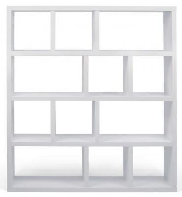 Temahome Berlin Pure White Wide 4 level Bookcase
