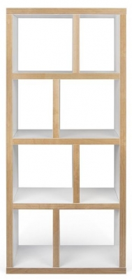 Temahome Berlin White Plywood Edge 4 level Bookcase