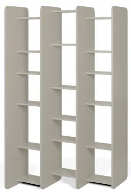 Temahome Twin Matt Grey Bookcase