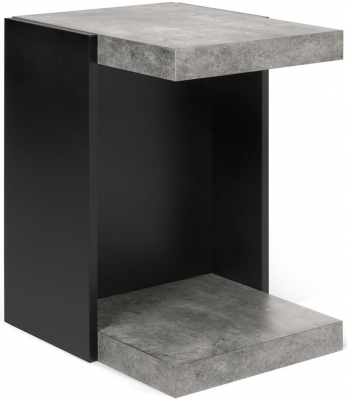 Temahome Klaus Concrete Melamine and Black Side Table