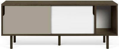 Temahome Dann 165 Walnut TV Unit with White and Grey Doors