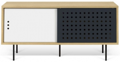 Temahome Dann Dots 135 Oak TV Unit with White and Anthracite Doors