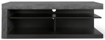 Temahome Detroit Concrete Melamine and Black TV Stand