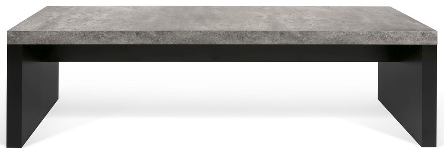 Temahome Detroit Concrete Melamine and Black Dining Bench