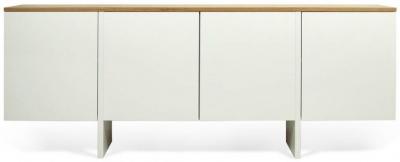 Temahome Edge White and Oak Sideboard
