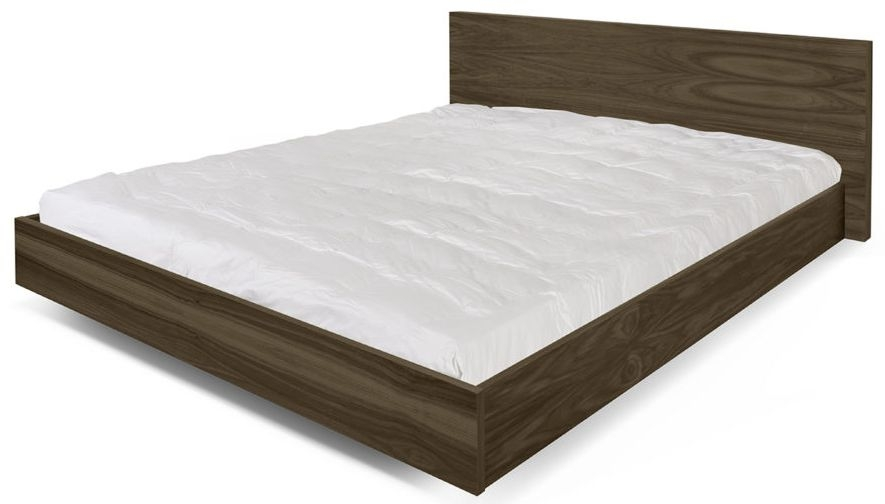 Temahome Float Walnut Bed