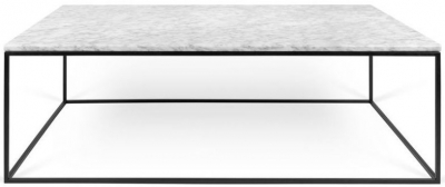 Temahome Gleam 120cm White Marble Coffee Table