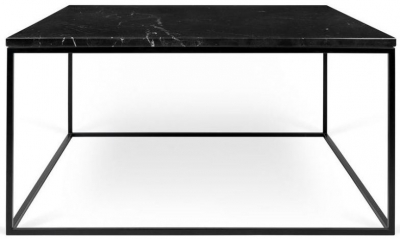 Temahome Gleam 75cm Black Marble Coffee Table