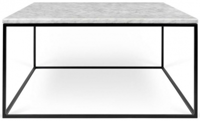 Temahome Gleam 75cm White Marble Coffee Table