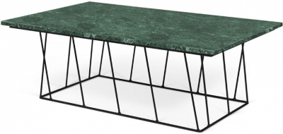 Temahome Helix Green Marble Coffee Table