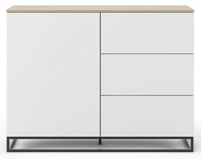 Temahome Join 120H2 White and Oak Sideboard with Metal Base