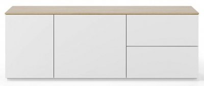 Temahome Join 160L2 White and Oak Sideboard