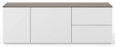 Temahome Join 160L2 White and Walnut Sideboard