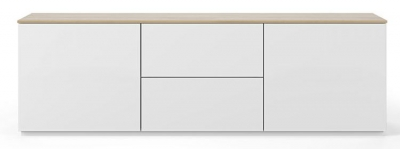 Temahome Join 180L1 White and Oak Sideboard