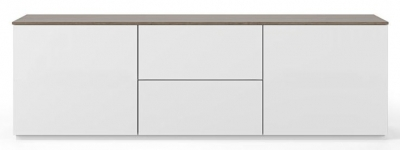 Temahome Join 180L1 White and Walnut Sideboard