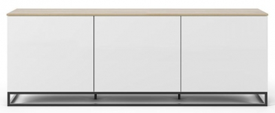 Temahome Join 180L2 White and Oak Sideboard with Metal Base