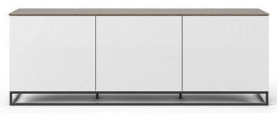 Temahome Join 180L2 White and Walnut Sideboard with Metal Base