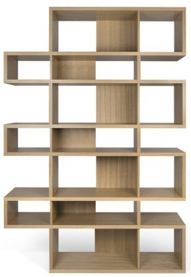 Temahome London Oak Triple Bookcase