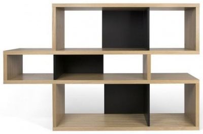 Temahome London Oak and Black Bookcase