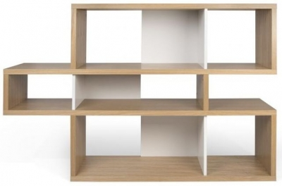 Temahome London Oak and White Bookcase