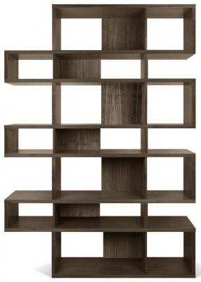 Temahome London Walnut Triple Bookcase
