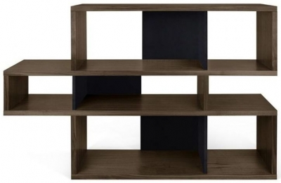Temahome London Walnut and Black Bookcase
