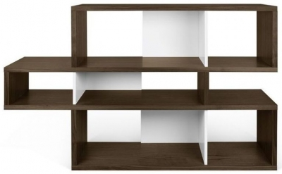 Temahome London Walnut and White Bookcase