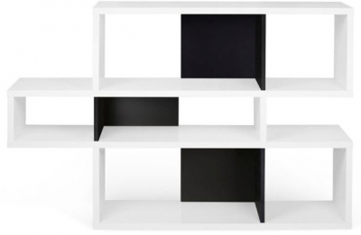 Temahome London White and Black Bookcase