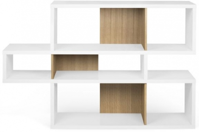 Temahome London White and Oak Bookcase