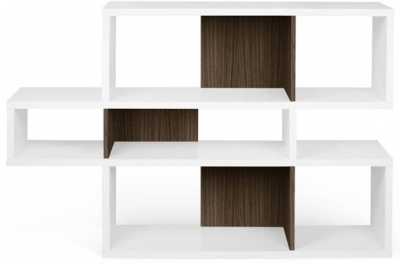 Temahome London White and Walnut Bookcase