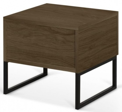 Temahome Mara Walnut Bedside Cabinet with Metal Legs