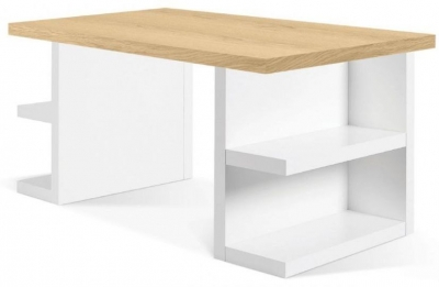 Temahome Multi Storage 160 Oak and White Writing Desk