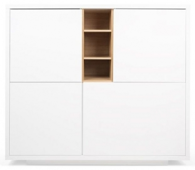 Temahome Niche White and Oak Cupboard