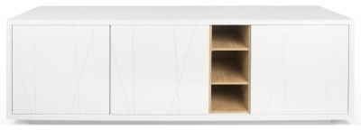 Temahome Niche White and Oak Pattern Sideboard