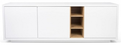 Temahome Niche White and Oak Sideboard