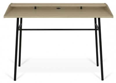 Temahome Ply Oak and Black Writing Desk