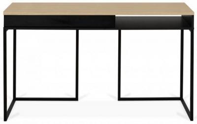 Temahome City Oak and Black Writing Desk