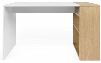Temahome Harbour Oak and White Writing Desk