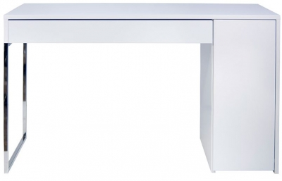 Temahome Prado White and Chrome Writing Desk