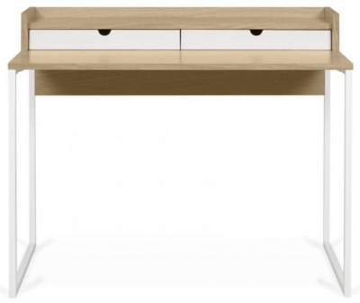 Temahome Rise Oak and White Writing Desk