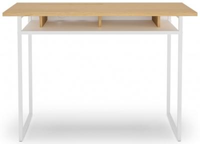 Temahome Bristol Light Oak and White Writing Desk