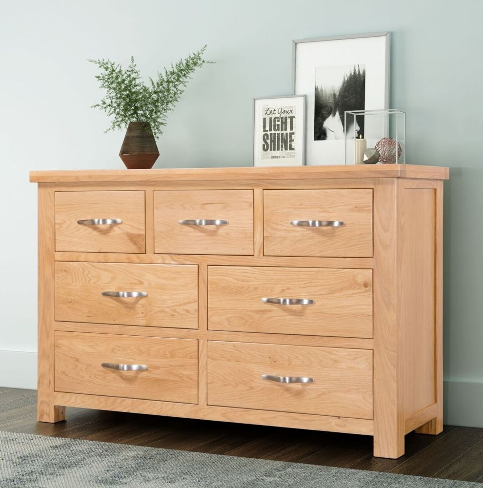 Cambridge Oak 3+4 Drawer Chest