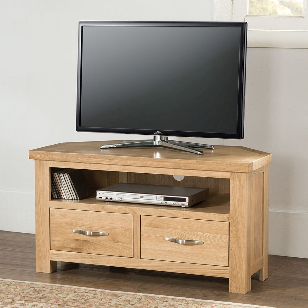 Cambridge Oak Corner TV Unit